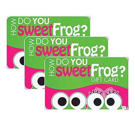 SweetFrog Premium Frozen Yogurt Shop $30 Value Gift Cards - 3 x $10