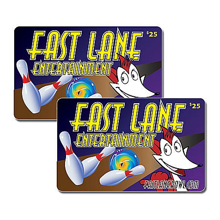 Fastlane Entertainment - 2 x $25