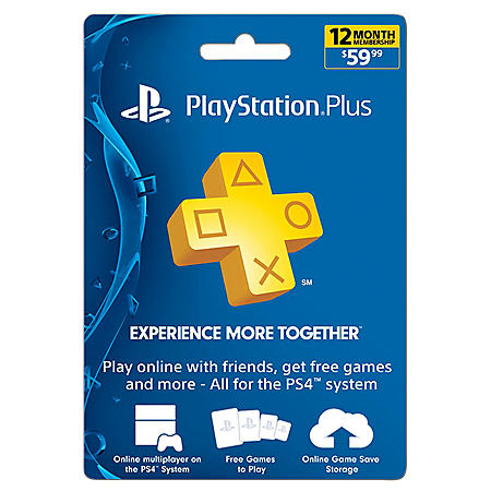 Sony PlayStation Plus 12 Month Card - $59.99 Value