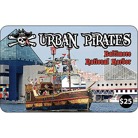 Urban Pirates (MD) $100 Value Gift Cards - 4 x $25