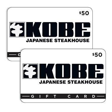 Kobe Japanese Steakhouse (Hawaii) $100 Value Gift Cards - 2 x $50