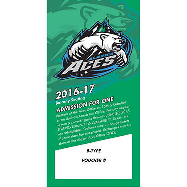Alaska Aces - 4 balcony tickets for $65