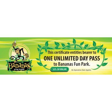 Banana's Fun Park Gift Card - 2/$40