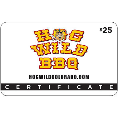 Hog Wild BBQ (Fort Collins) $50 Value Gift Cards - 2 x $25