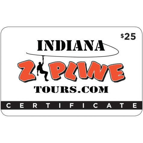 Indiana Zipline Tours $50 Value Gift Cards - 2 x $25