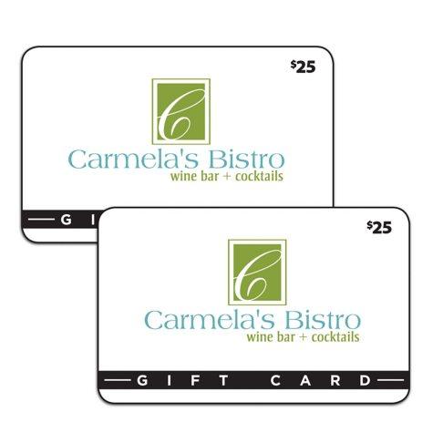 Carmela's Bistro and Wine Bar (Lincoln, NE) $50 Value Gift Cards - 2 x $25