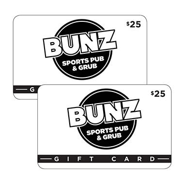 Bunz Sports Pub & Grub 2 x $25 for $40