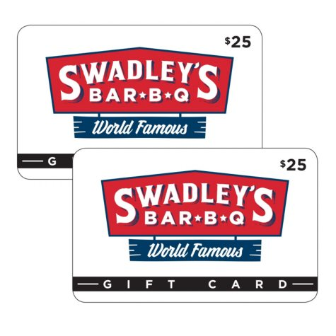 Swadley's Bar-B-Q $50 Value Gift Cards - 2 x $25