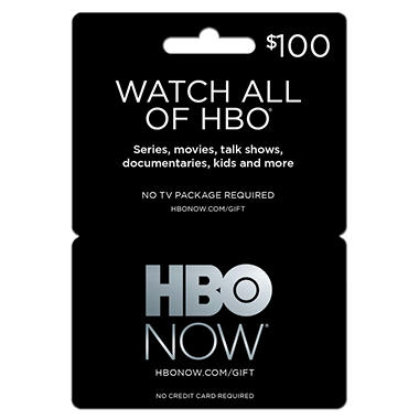 HBO Now GIft Card - $100 Value