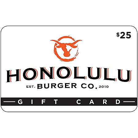 Honolulu Burger Co. $50 Value Gift Cards - 2 x $25