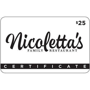 Nicoletta's - 2 x $25 for $40