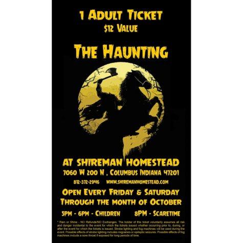 The Haunting at Shireman Homestead Gift Card - 2/$25