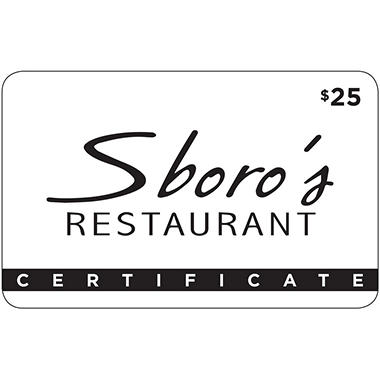 Sboro's Restaurant & Chop House - 2 x $25 for $40