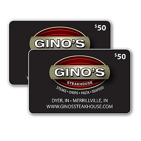 Gino's East Chicago Deep Dish Pizza $50 Value Gift Cards - 2 x $25