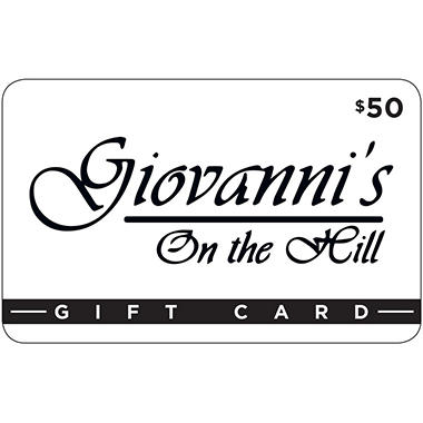 Giovanni's on the Hill - 2 x $50
