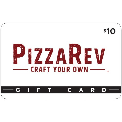 Pizza Rev Corporate $50 Value Gift Cards - 5 x $10