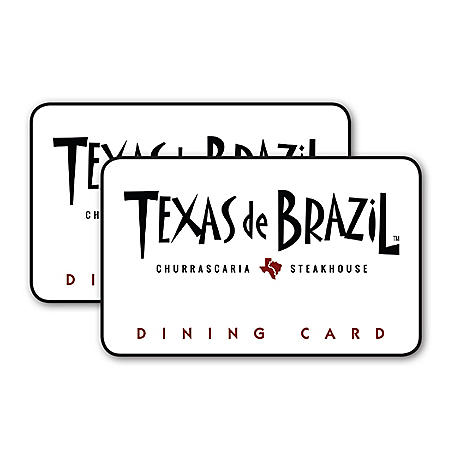 Texas De Brazil $100 Value Gift Cards - 2 x $50