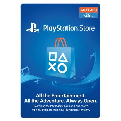Sony PlayStation $25 Gift Card