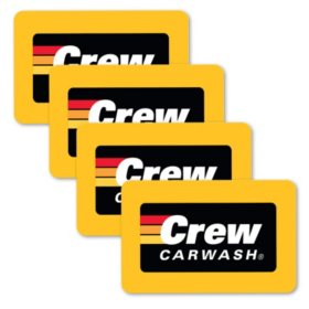 Crew Carwash $100 Value Gift Cards - 4 X $25