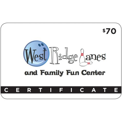 West Ridge Lanes and Family Fun Center - $69.95 for $39.95