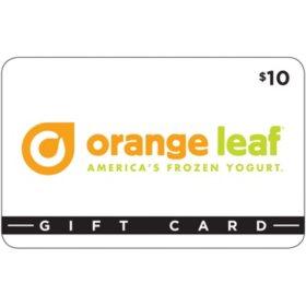 Orange Leaf Frozen Yogurt $50 Value Gift Cards - 5 x $10