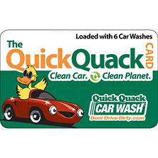 Quick Quack Car Wash $78 Value - 6 Shine Wash Packages