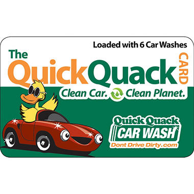 Quick Quack Car Wash - 6 Shine Wash Packages for $44.98 ($78.00 Value)