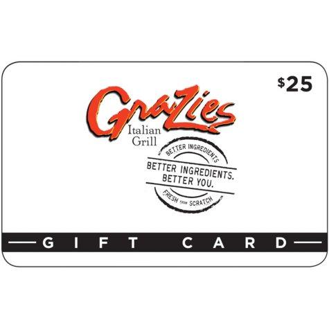 Grazies Italian Grill 2 x $25 for $40