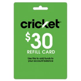 Cricket Wireless eGift Card (Email Delivery) - Various Amounts