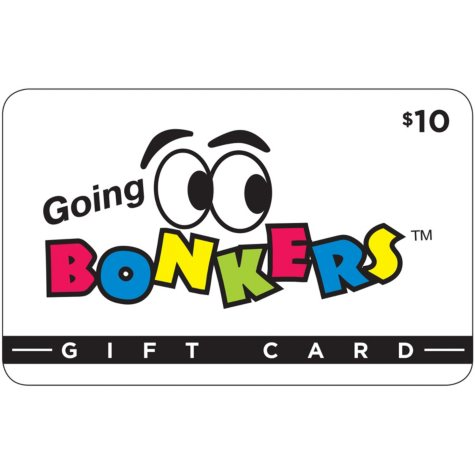 Going Bonkers Family Fun Center $50 Value Gift Cards (Kansas) - 5 x $10