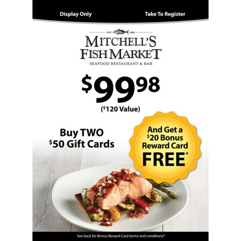 Mitchell's Fish Market (Landry's) $120 Value Gift Cards - 2 x $50 Plus $20 Card