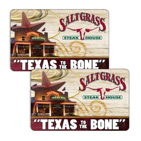 Saltgrass Steakhouse (Landry's) $120 Value Gift Cards -  2 x $50 Plus $20 Bonus