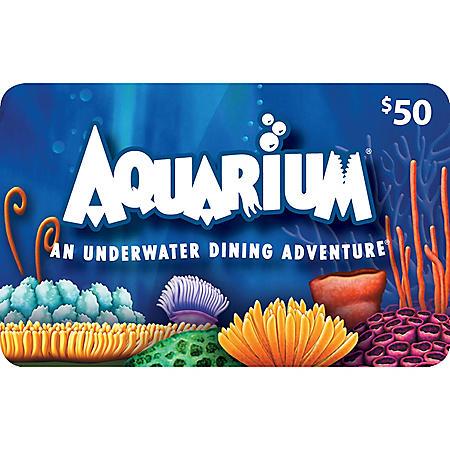 Aquarium Restaurants $120 Value Gift Cards - 2 x $50 and a Bonus $20 Card
