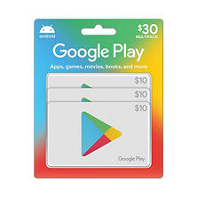 Google Play $30 Value Gift Cards - 3 x $10