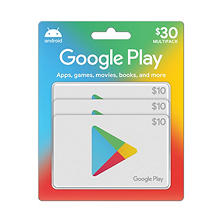 Google Play Gift Cards - 3 x $10