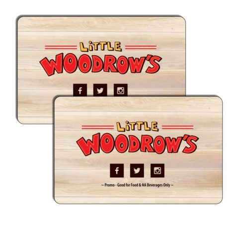 Little Woodrows $50 Value Gift Cards - 2 x $25