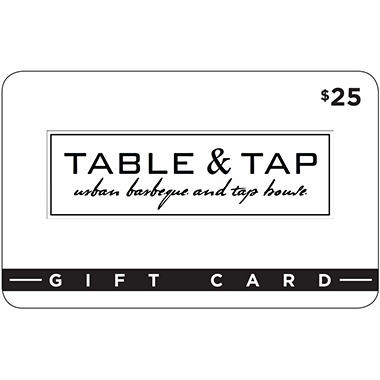 Table and Tap - 2 x $25 for $40 .