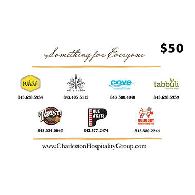 Charleston Hospitality Group (SC) $100 Value Gift Cards - 2 x $50