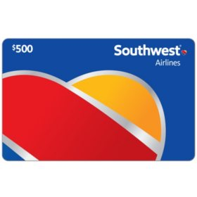 Southwest Airlines Gift Card - Various Amounts