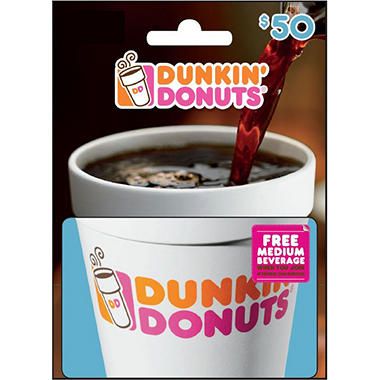 Dunkin Donuts - $50 Value