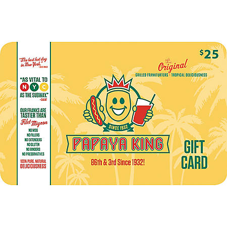 Papaya King - 2 x $25 for $40