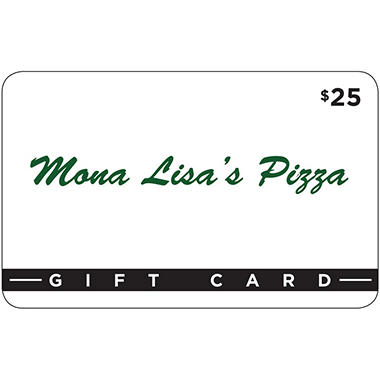 Mona Lisa's Pizza - 2 x $25 for $40