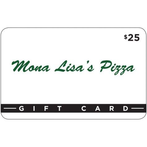 Mona Lisa's Pizza - 2 x $25 for $40