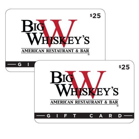 Big Whiskey's American Restaurant & Bar (AR, MO) $50 Value Gift Cards - 2 x $25