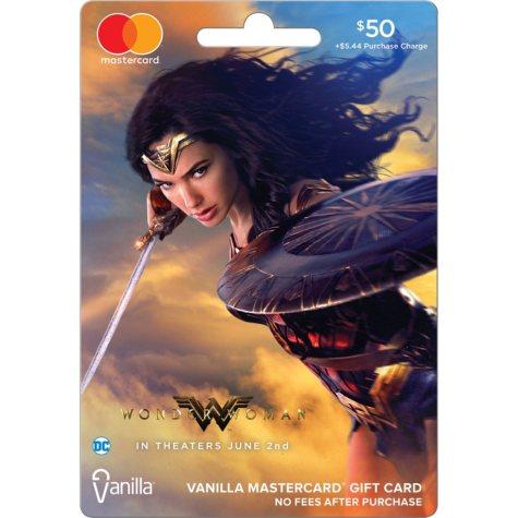 $50 Wonder Woman Vanilla® Mastercard® Gift Card