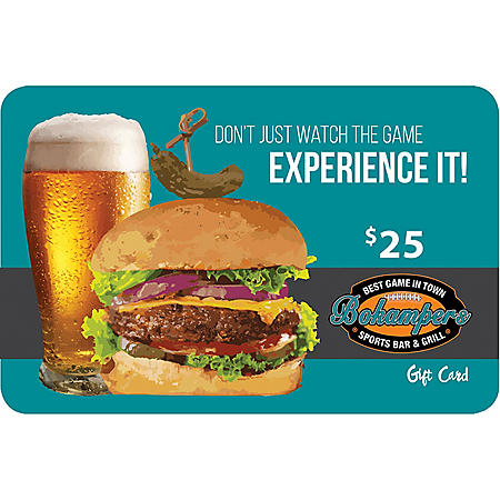 Bokamper's Sports Bar and Grill $50 Value Gift Cards - 2/$25