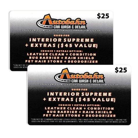 Autobahn Indoor Speedway $50 Value Gift Cards - 2 x $25