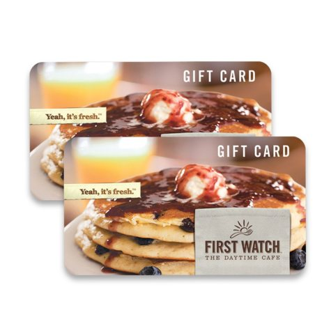 First Watch Restaurants $50 Value Gift Cards - 2 x $25