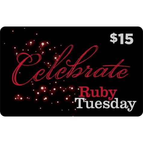 Ruby Tuesday $90 Value Gift Cards - 5 x $15 Plus $15 Bonus