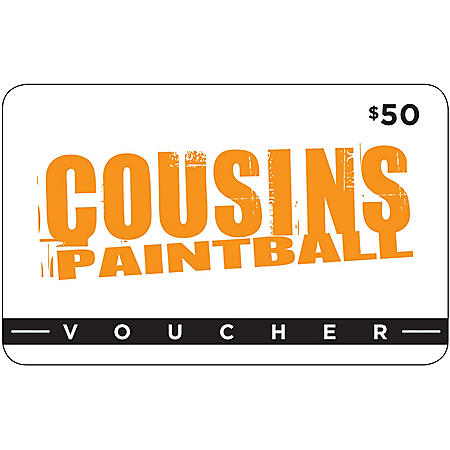 Cousins Paintball (NY, NJ, TX) - $50 Value Gift Card